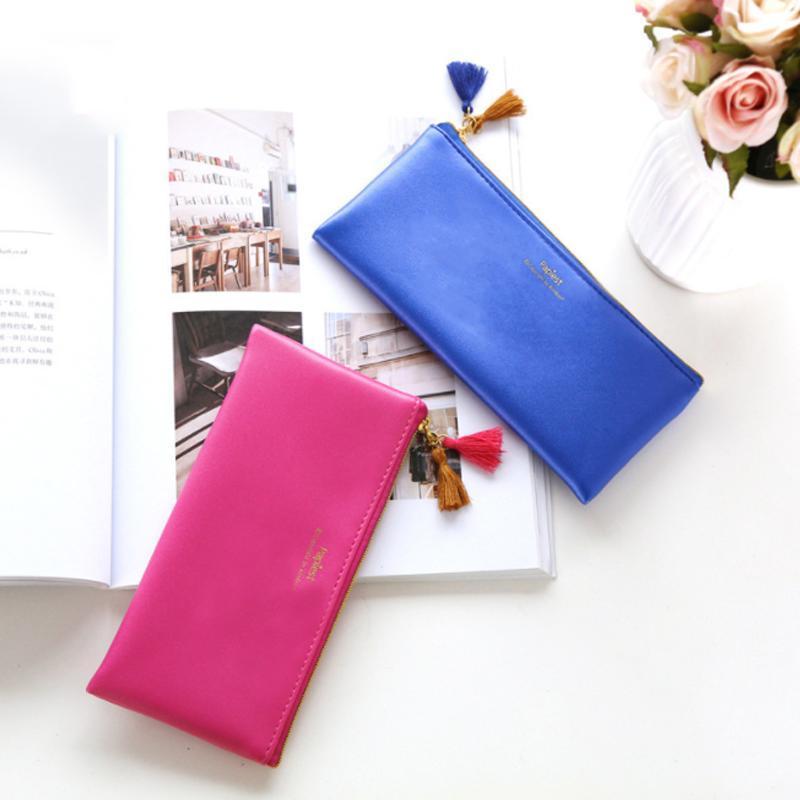 PCS / набор новинка карандаш Классический синий и роза красный цвет водонепроницаемый мягкий из искусственной кожи хранения косметические сумки сумки сумки