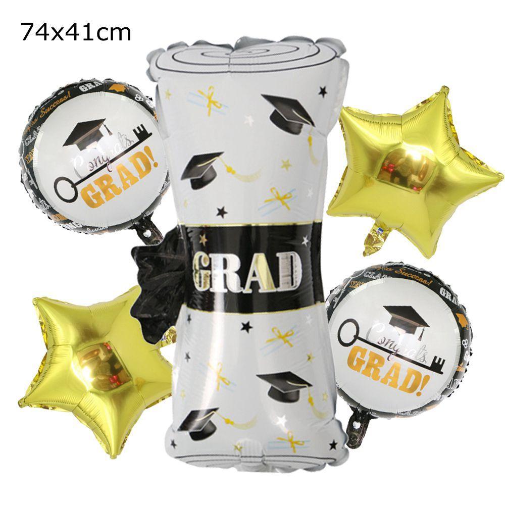 Aluminum Foil Balloon Set Class OF 2021 Graduation Party Decorative GARD Paper Roll Cartoon Balloons YL629