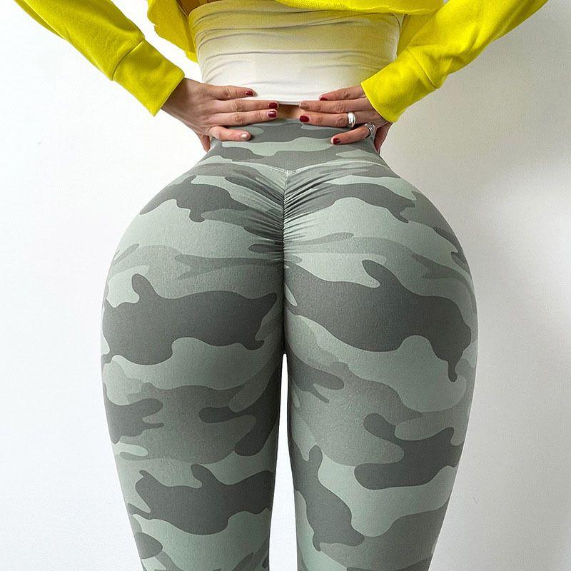 SALSPor Frauen Tarnung Push Up Leggings Casual High Taille Slim Fit Jeggings Fitness-Training Atmungsaktive Schnellretische Leggings Y0327