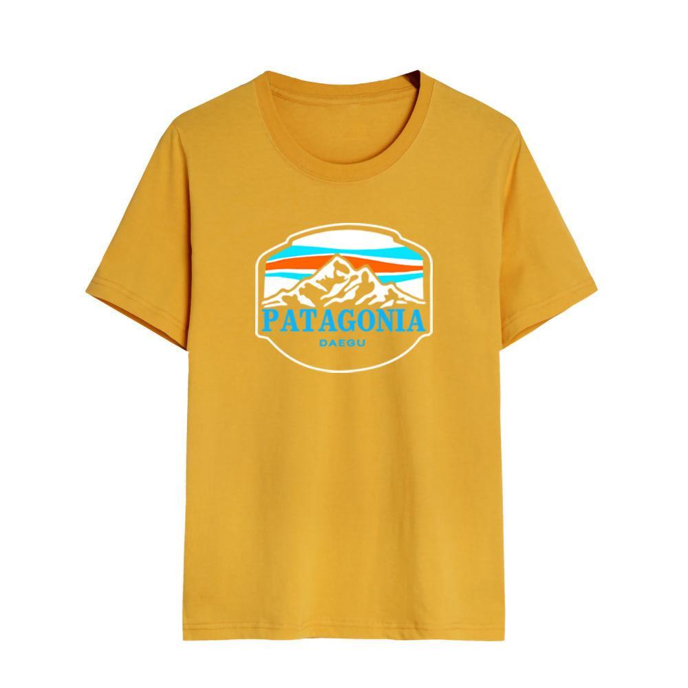 Factory 200G комбинированная хлопчатобумажная шея футболка мужская мода патаго бата письмо спортивные жареные улицы пара с коротким рукавом