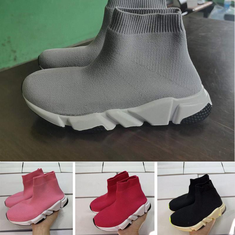 Desconto Triple S Pais Knit Knit Cidade Peúso Crianças Correndo Sapatos Menino Menina Juventude Kid Speaker Sneaker Tamanho 24-35