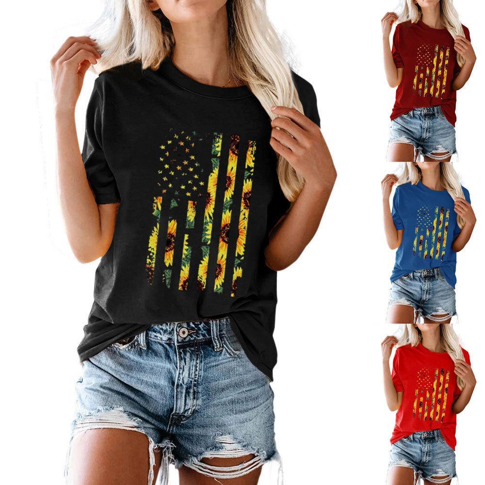Camiseta de manga corta del cuello redondo del cuello redondo del cuello redondo del cuello redondo