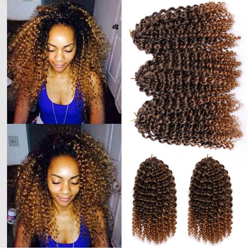 Afro Treids Malibob Wig Crochet Fibra di fibra chimica