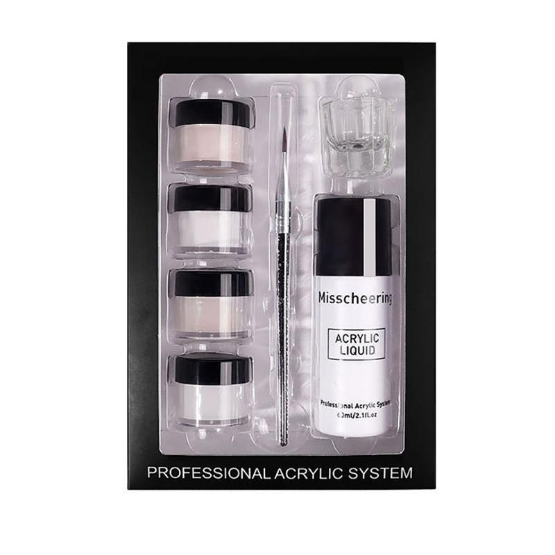 Poudre de kit d'ongles acrylique avec monomère liquide pour l'extension Tool d'art de brosse Y1 polonais