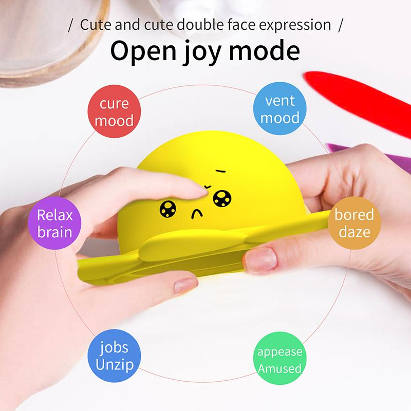 Popit Bubble Kids Silicone Fidget Toys Party Puzzle Gifts Sensory Dimple Face Flips Doll Toy Children Comfort Gift Adult Anxiety Stress Relief Fast Decompression
