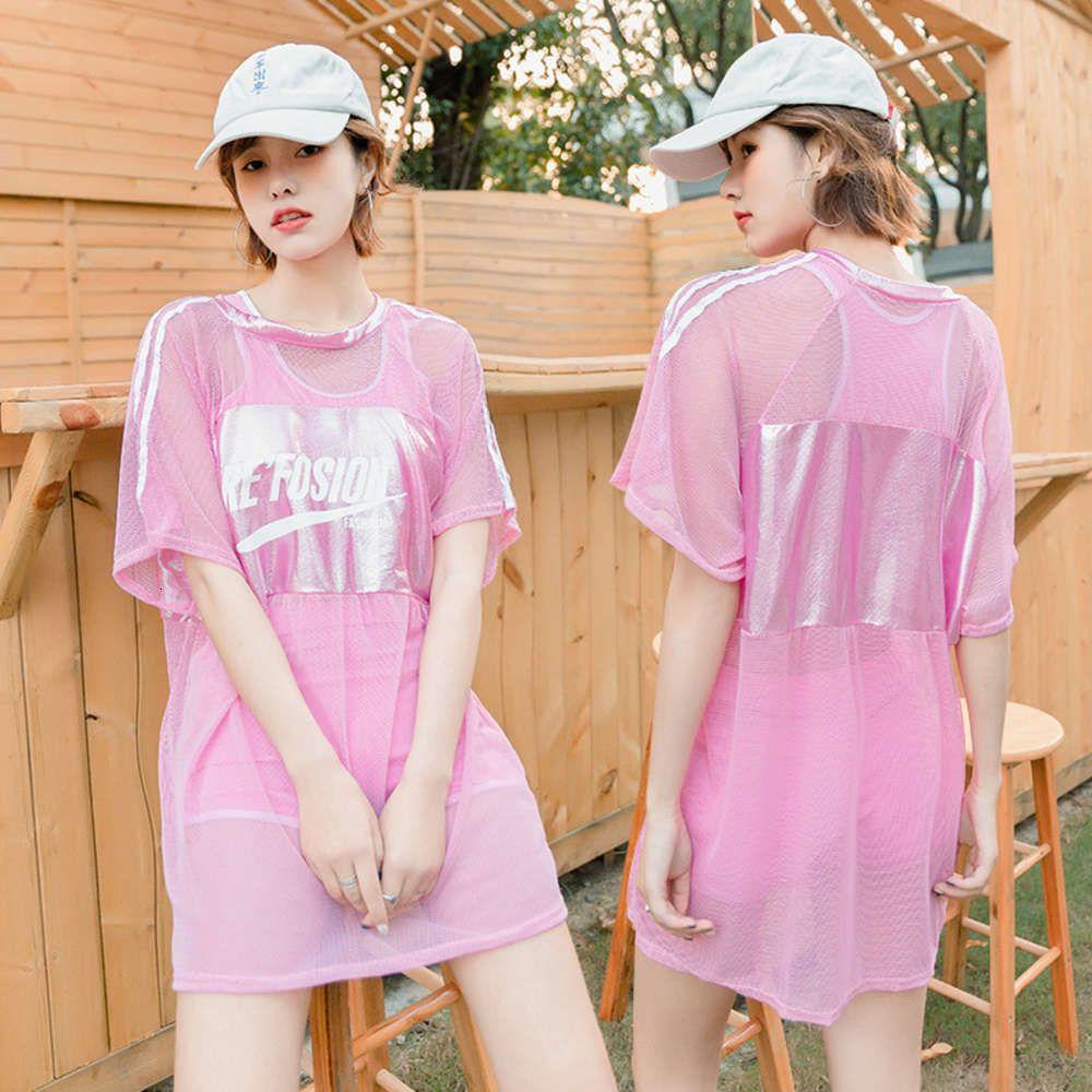 Maillots de bain Sports Femmes Trois Pièces Trois Pièce Plat Housse Conservative Couverture du ventre Afficher maillot d'étudiant mince