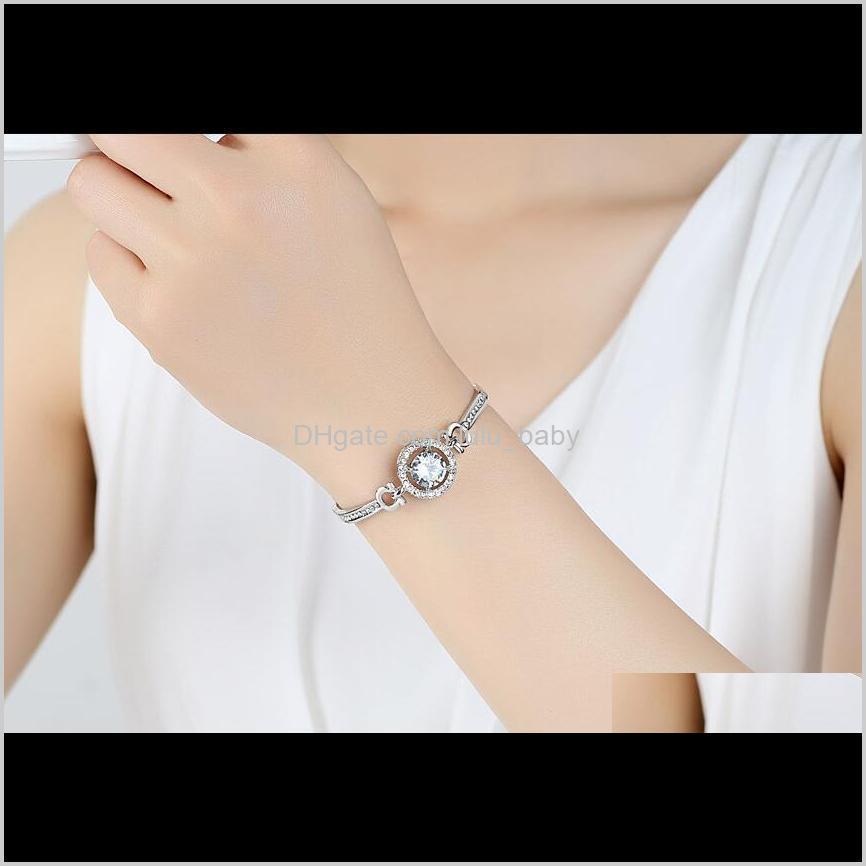 Fascino Drop Consegna 2021 Bracciali Gioielli San Valentino S Giorno Regalo per Fidanzata Designer di Prestigio Donne Diamanti Diamanti Diamanti Braccialetti Catene Fash