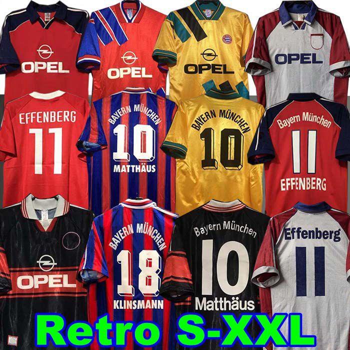 93 94 95 96 97 98 99 Retro Jersey 00 01 02 Papin Elber Zickle Lizarazu Effenberg Pizarro Scholl Matthaus Klinsmann Bayern Shirts