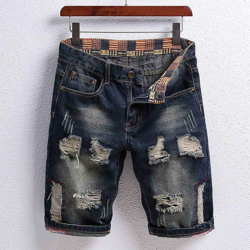 Vaqueros de verano pantalones cortos pantalones cortos para hombres Capris Fashions Ocio joven Estudiantes de la calle Moda Coreana Versión Pantalones