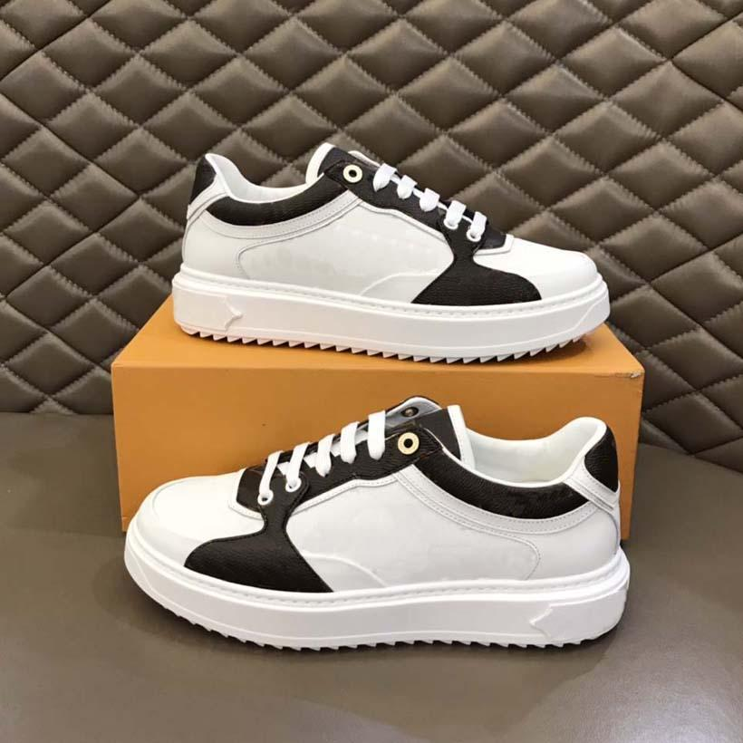 Kadın Tasarımcı Rahat Ayakkabılar Yumuşak Deri Sneakers Loafer'lar Platformu Rahat Ayakkabı Baskılı Balfskin Kalın Sırtı Lastik Eğitmenler