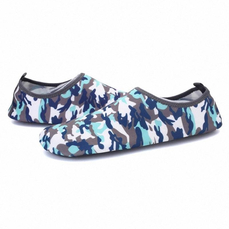 Мужчины Woman Surf Aqua Sports Sports летняя водяная обувь на открытом воздухе Ультра легкая скольжение на пляже Плавать повседневную бассейн мягкая кожа дышащий дайвинг F5QN #