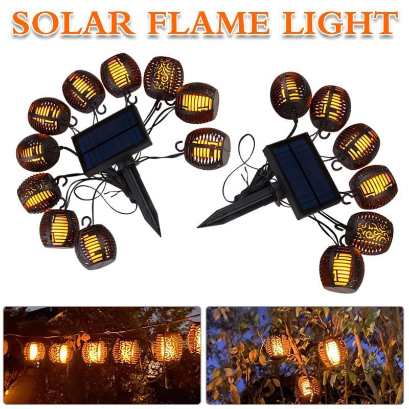 Solarlampen führte Flammenlicht Gartendekoration im Freien außerhalb der automatischen wasserdichten Lampe für den Yard-Weg