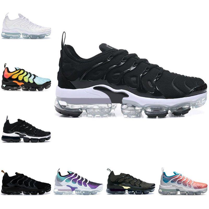 Satmak 2021 Yeni Ağartılmış Aqua TN Artı Koşu Ayakkabıları Erkekler Kadınlar Için Üçlü Siyah Beyaz Limon Kireç Kireç Koyu Gri Beyaz Havalar TNS Sneakers Spor Ayakkabı T1