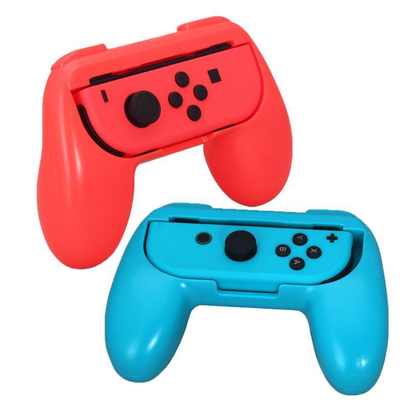 2 pz / set per il supporto del supporto del controller del commutatore Joycon Staffa Gamepad Accessori per presa a mano Nintendoswitch Controller di gioco Joystick Joystick