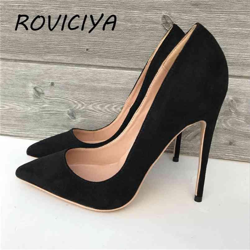 Schwarze Frauen High Heels 12cm High Heels Exklusive Marke Professionelle Schuhe 10 cm Weibliche High Heels Shallow RM007 Roviciya 210408