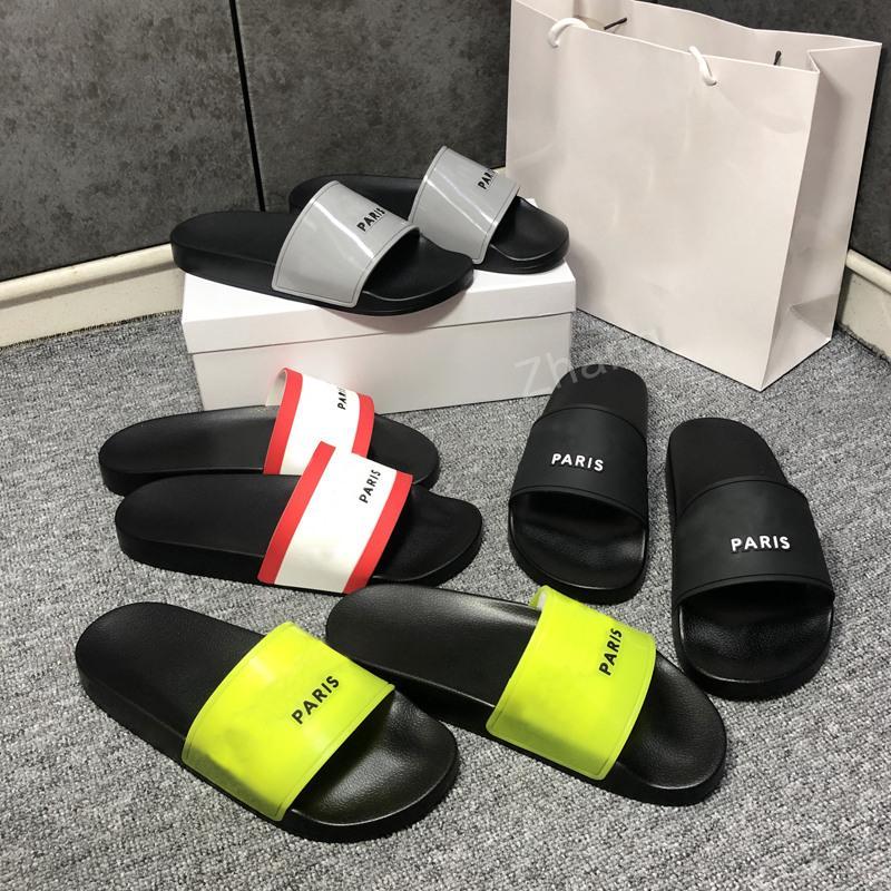 2021 Top Qualité Chaussons Femmes Sandales Sandales Chaussures Slide Summer Fashion Large Flip Flop avec boîte Taille EUR36-EUR46