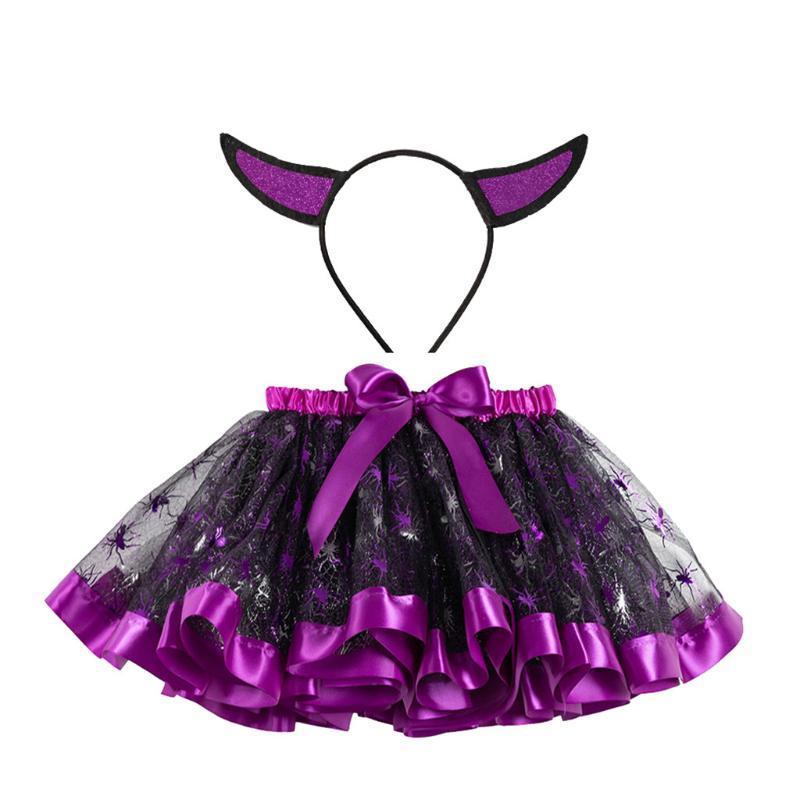 Mode Baby Kinderrock Mädchen Prinzessin Halloween Tanz Tutu Party Ballett Röcke + Haarband Kinder Chiffon 20Jan Röcke