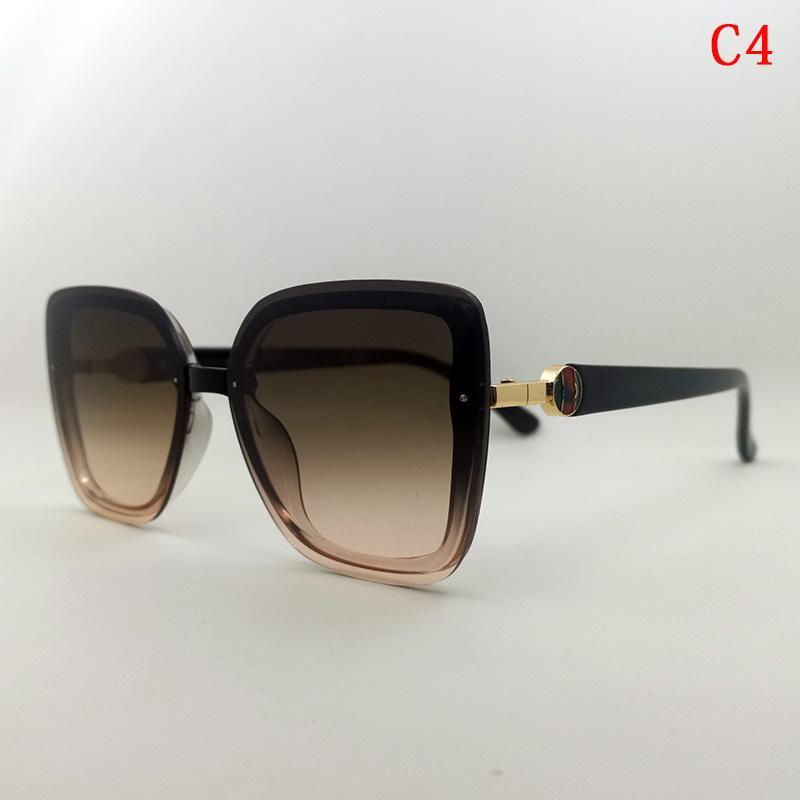 Gafas de Sol Para Hombre Mode Frauen Sonnenbrille Hohe Qualität Mode Sonnenbrille Frau UV400 Braune dekorative flache Quadratische Sonnenbrille