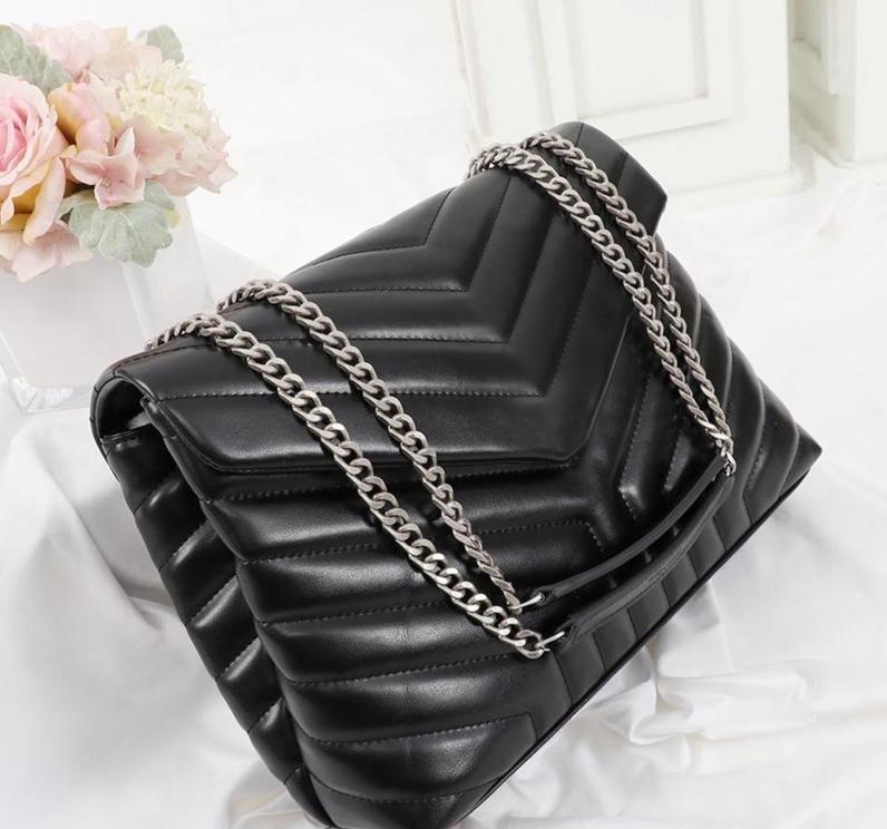 Designer louLou Sacs à bandoulière sac à main Sacs à main en cuir véritable femme célèbre Bandbody Messenger Chain Loulou sac haute qualité 25cm 32cm