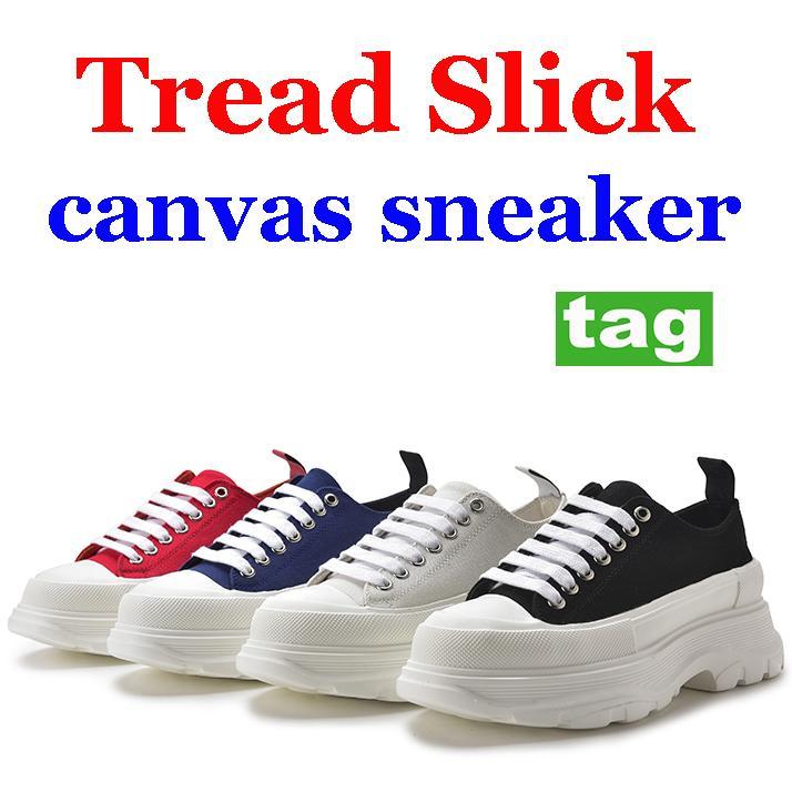High quality Tread slick canvas casual shoes royal triple white black pale pink Dating platform sneakers men women party fashion sneaker