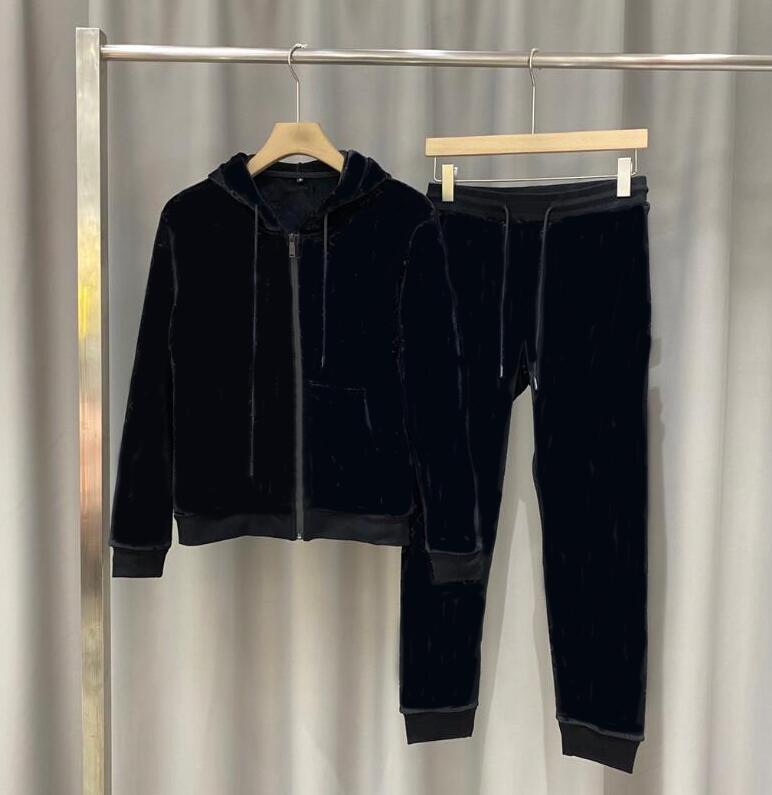 Spring Mens Designer Tracksuits Lettres Mode Print Sportsuits pour Hommes Femmes Couple Couple Costumes Pantalons Jogger Automne Costumes 2 couleurs facultatives