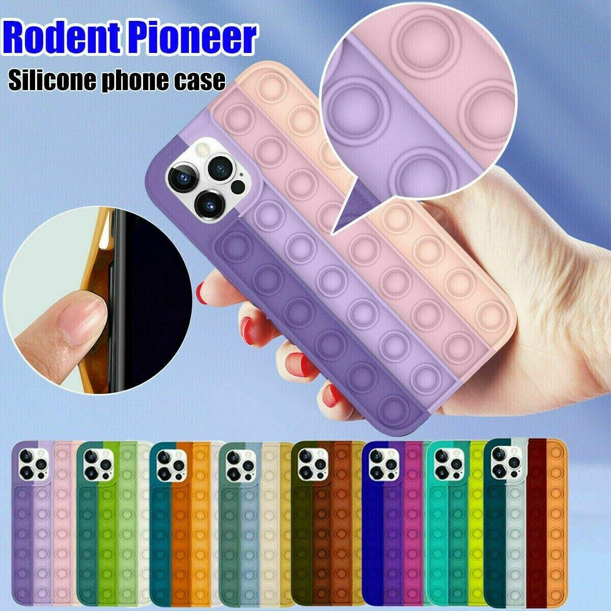 Fidget Reliver Stress Toys Rainbow Phone Cases For iPhone 6 7 8 Plus 12 11 Pro XS XR Max Antistress Cover