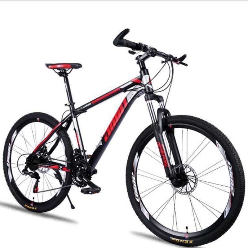 Красивый горный велосипед 26 дюймовый демпфирующий дисковый дисковый тормозной скорость изменения двойной стали рамы велосипеда велосипедов