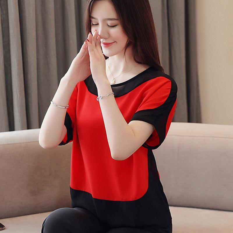 Frauen Blusen Hemden Koreanische Mode Chiffon Frauen Oansatz Weiß Plus Größe XXXL Womens Tops und Blusas Femininas Elegante