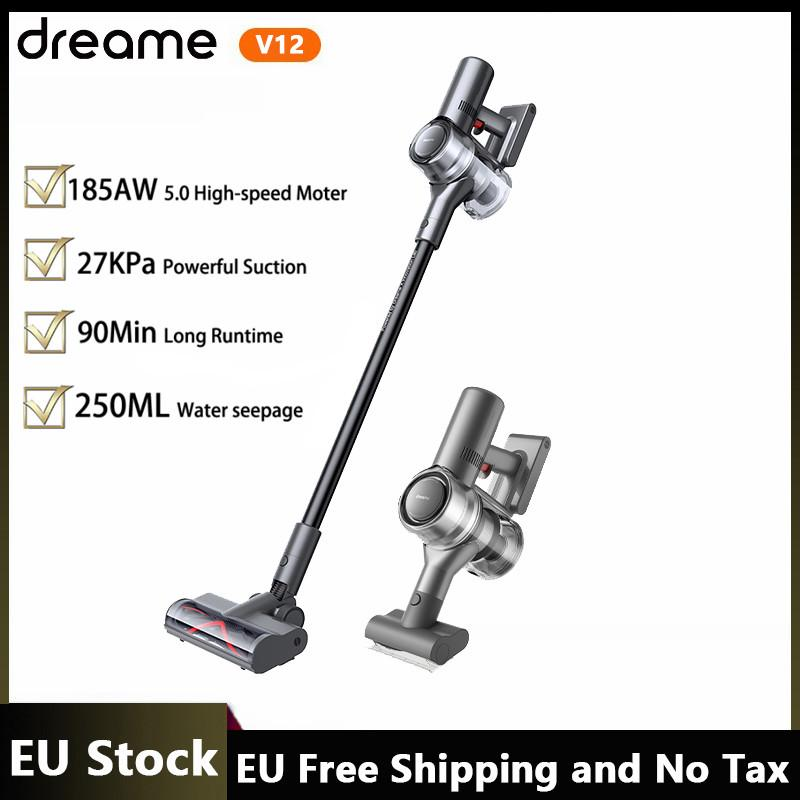 EU Stock Dreame V12 Cordless Handheld Wireless Vacuum Cleaner 27KPa Strong Suction 185AW SPACE 5.0 High Speed Motor OLED Display