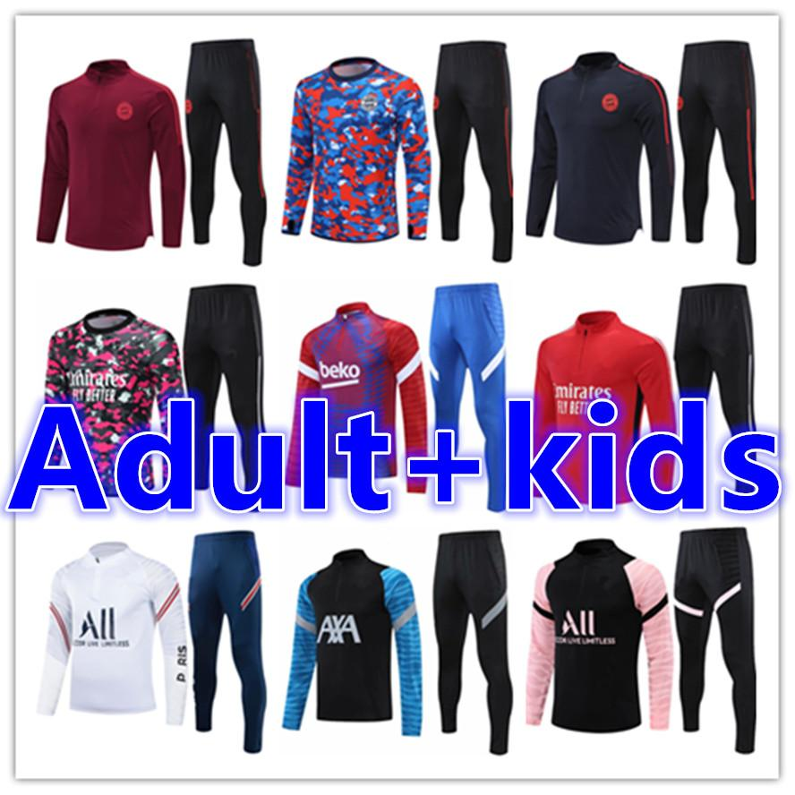 2021 2022 Herren Trainingsanzug Kinder Fußball Trikots Kits 20 21 Männer Training Fußball Jersey Kid Trainingsanzüge Survetement Foot