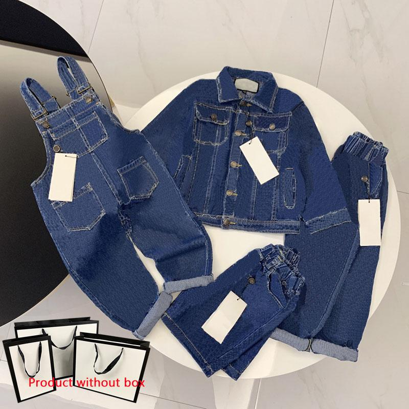 Kids Clothing Sets Girl Boy Denim Jacket Outwear Top Jeans Coat Fashion Classic Overalls Shorts Baby Trousers Jacket 4 Styles Child Suits