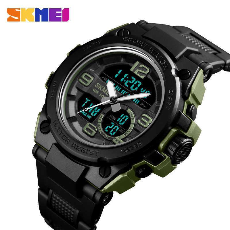 Skmei g estilo moda digital relógio homens esportes relógios exército militar relógio de pulso erkek saat resistir relógio relógio de quartzo relógio y0708