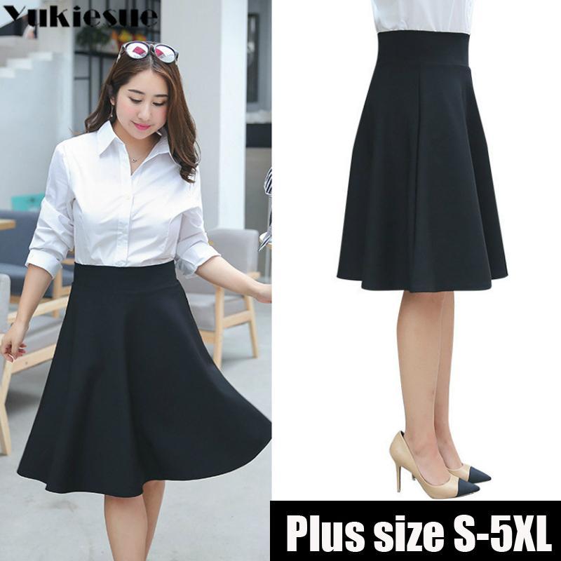 Mode Frau Röcke Frauen Koreanische Version Falten Rock Regenschirm Rock Hohe Taille unten A-Linie Röcke plus Größe 5XL 210412