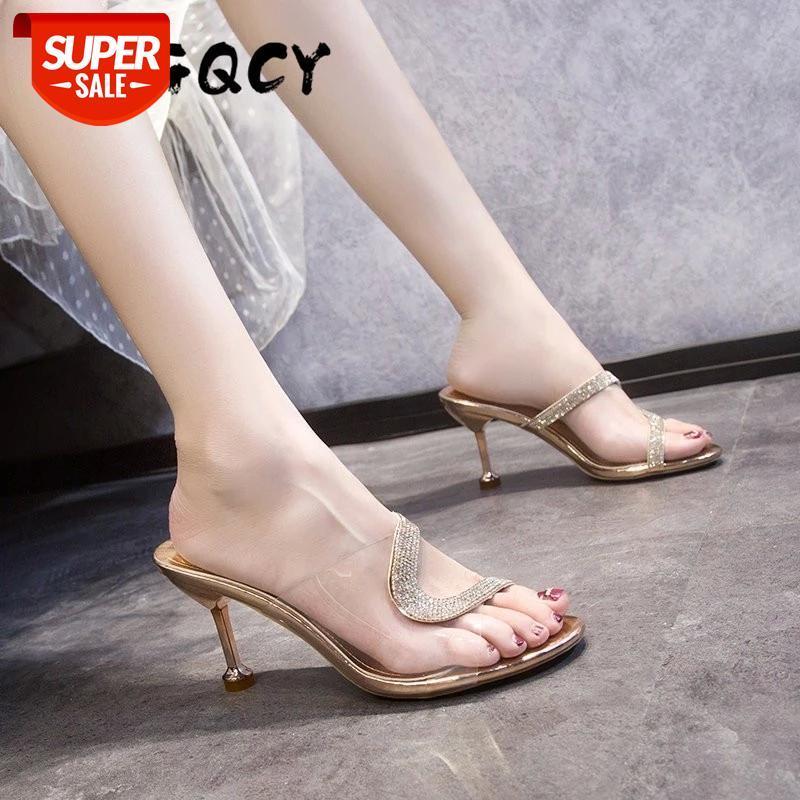 Sexy High Heels Women Fashion Bling Clear Sandals Crystal Cup Stilettos Transparent PVC Pumps Summer Shoes Peep Toe #AQ8t
