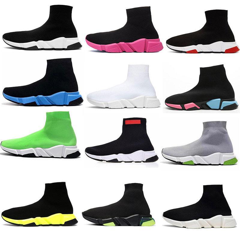 Tissu élastique pour femmes Chaussures de sport à tricoter en plein air Chaussettes Sports Spectacle Entraîneur confortable Concurrence Black and White Box 35-40