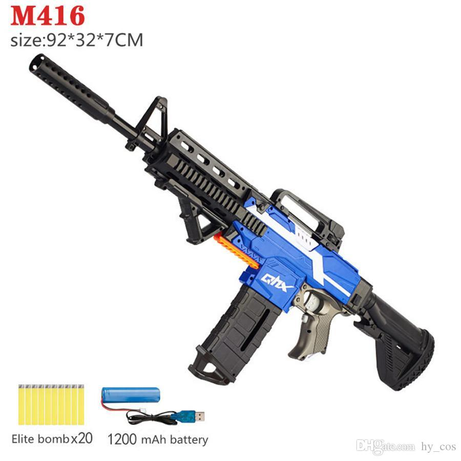 Boy Toy Gun Giocattoli Giocattoli Bambini Adulto Pistole elettriche M416 Modello Shooting Boys Regalo di compleanno regalo interattivo cecchino plastica
