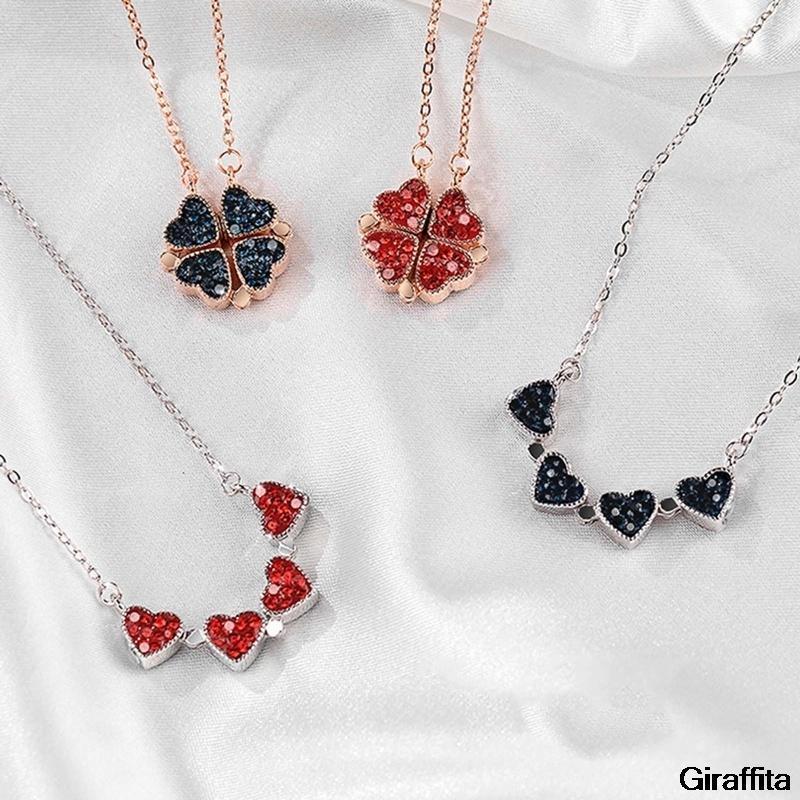 بسيطة كريستال 4 أربع أوراق البرسيم قلادة قلادة الحب خياطة جودة عالية السيدات الأزياء والمجوهرات سحر هدية قلادات