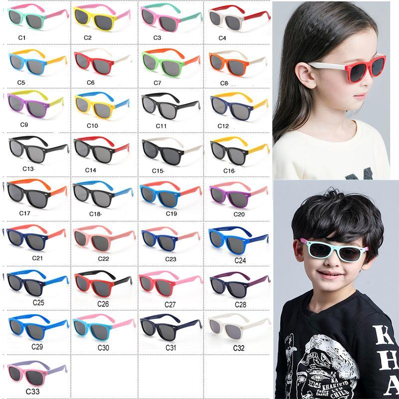 النظارات الشمسية من سيليكون الاستقطاب سكوير بنين والبنات فساتين uv400 تصميم العلامة التجارية لينة السلامة الاطفال نظارات الشاطئ