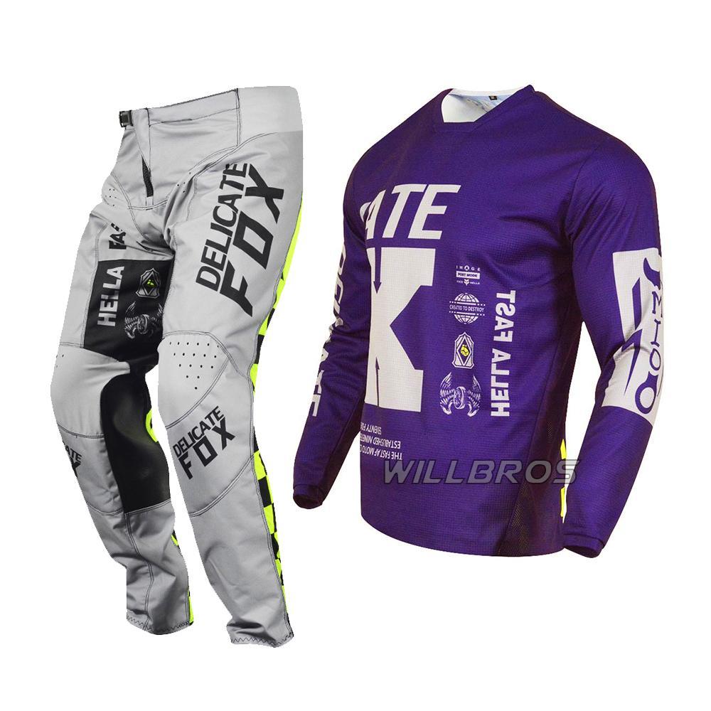 Délicat FOX 180 Pantalon Jersey Illmatik Mountain Vélo Vélo Ensemble Ensemble Motocross MotoChake Racing