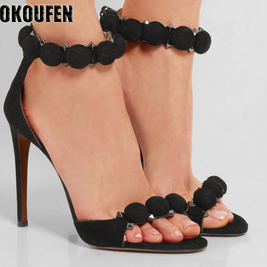 2018 nouveau talon mince femme chaussures haute talons hauts sandales chaussures de fête sandales d'été femmes pompes y200620
