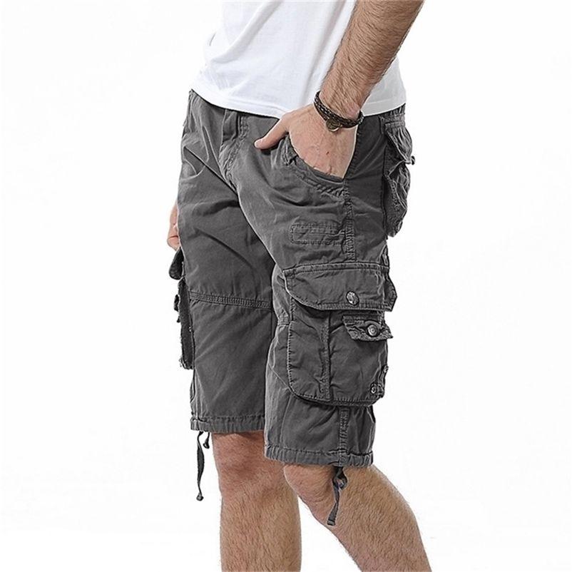 Фахисон Военные шорты грузов мужские камуфляжные тактические шорты мужские хлопчатобумажные работы повседневные мужские короткие штаны плюс размер 210330
