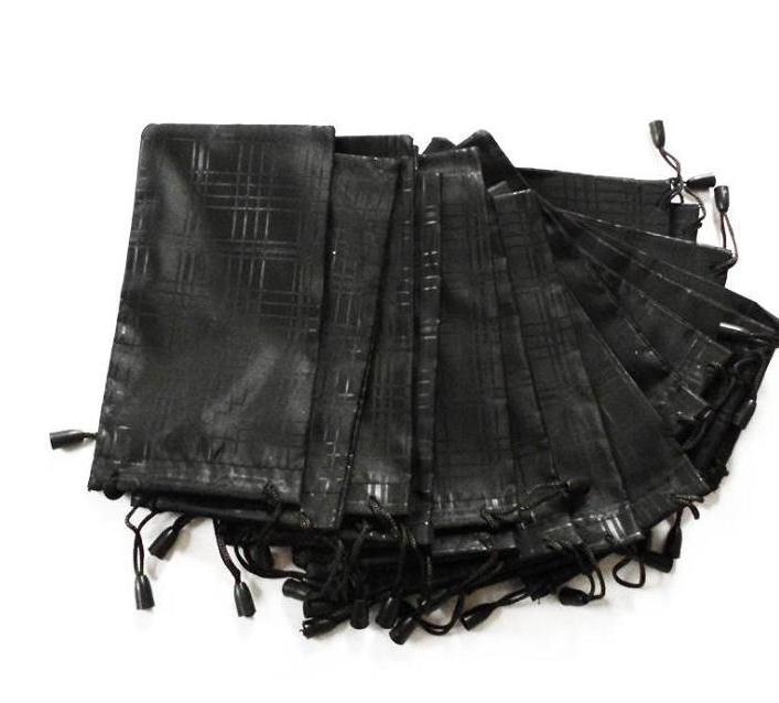 1000 Pcs/lot Glasses Case Soft Waterproof Plaid Solid Cloth Sunglasses Bag Glasses Pouch Black Color Wholesale