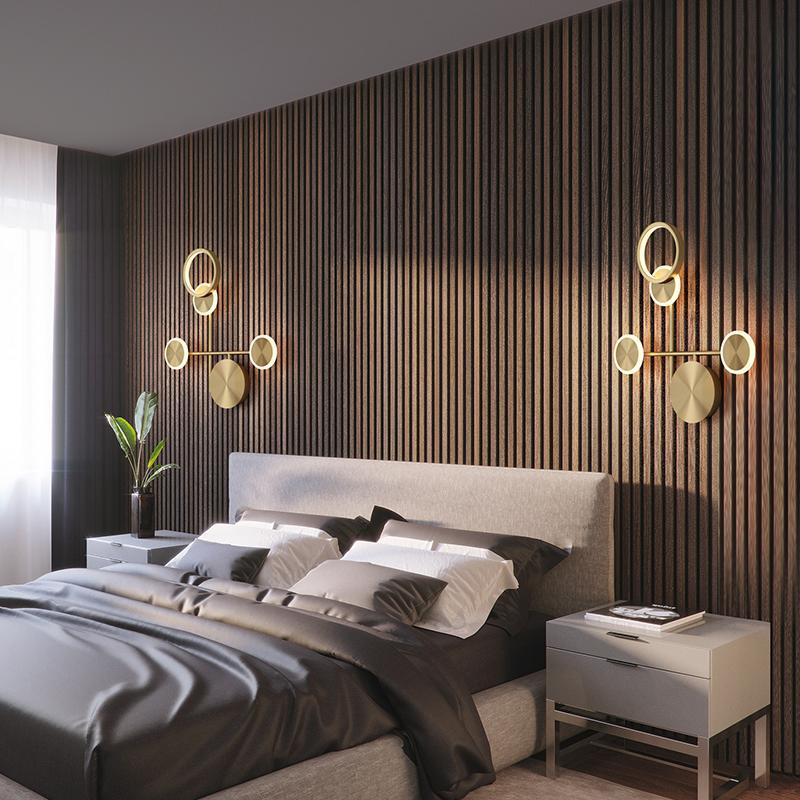 LED sconce 노르딕 럭셔리 벽 램프 장식 거실 로프트 침실 침대 옆의 복도 조명 인테리어 인테리어