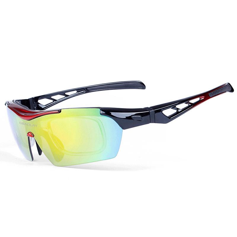 Großhandel DHL Schiff Ping Herren Radfahren Sonnenbrille Damen Outdoor Sports Sonnenbrille Polarisierte Fahrrad Brillen Klassisch Retro Fahrrad mit 5 Linsen und Box