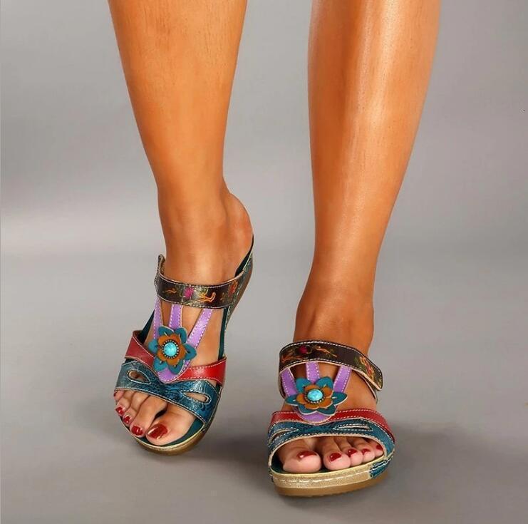 Zapatos de verano verano otoño estilo nacional sandalias mujeres grandes 43 zapatillas