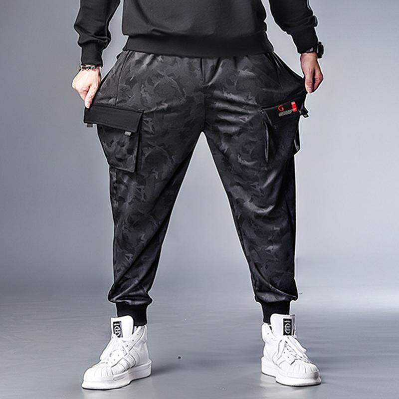 Gersri 남자 느슨한 바지 패션 체육관 조깅 캐주얼 조깅 스포츠 면화 패치 워크 힙합 Pantonon 플러스 사이즈 7xl 남자