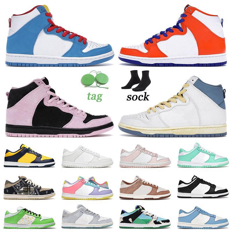 Authentique 2021 Fashion High SB Dunk Chaussures de course Danny Supa Atlas Lost Invert Celtics Dunks Hommes Femmes Gratuit 99 Low Trainers Skate Sneakers
