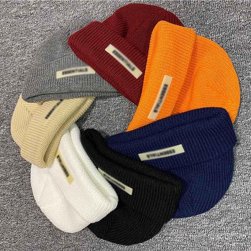 Kış Beanie Örme Şapka Soğuk Kafatası Kap Sis Tanrı Korkusu Essentials Sokak Seyahat Balıkçılık Rahat Sonbahar Sıcak Açık Spor HFHLMZ002