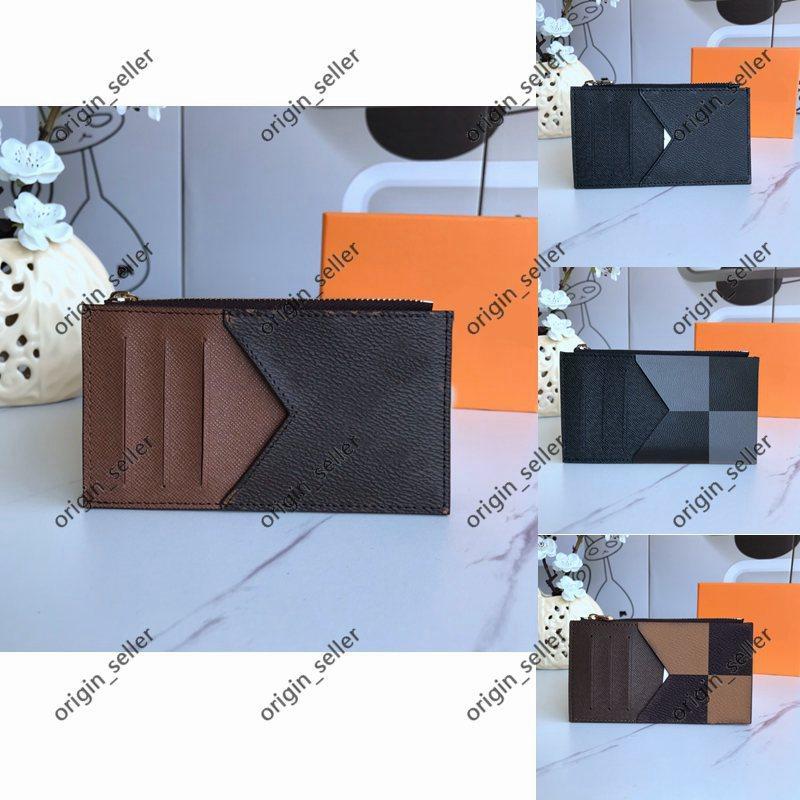Bayan Kart Sahibinin Erkek Kartları Kredi Pasaport Sahipleri Toptan Erkek Kadın Moda Orijinal Siyah Deri Kart Sahipleri Klasik Desen Katı Renk EkiliSolid