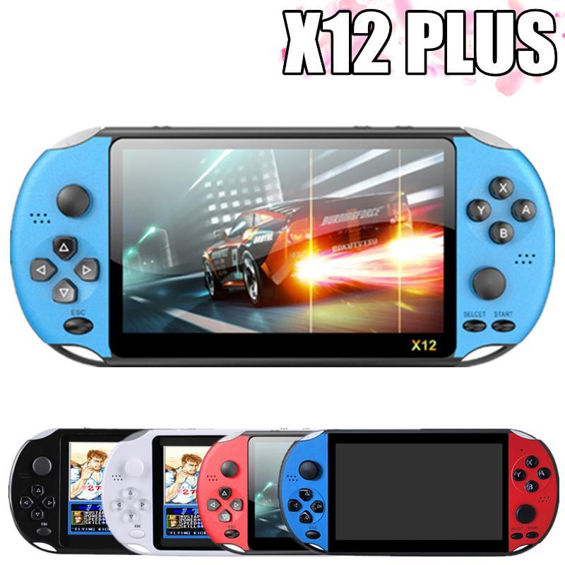 Video Game Console Player X12 Plus Portable Handheld PSP Retro Dual Rocker Joystick 7 Inch Screen